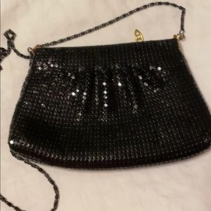 Black sequin evening bag